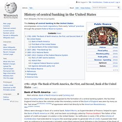 History of central banking in the United States