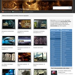 History Channel - documentales online