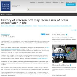 History of chicken pox may reduce risk of brain cancer later in life