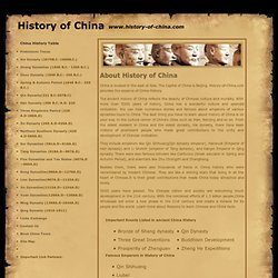 History of China, China History, ancient China, Chinese history