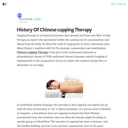 What is Chinese Cupping Therapy