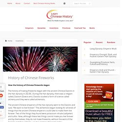 History of Chinese Fireworks