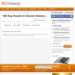 history of christianity timeline pdf