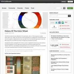 History Of The Color Wheel by COLOURlovers