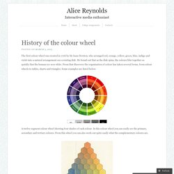 History of the colour wheel