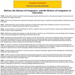 History of Computers in Education