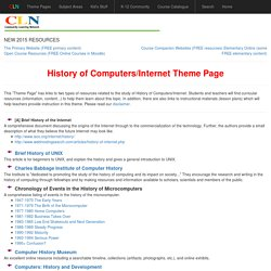 History of Computers-Internet Theme Page