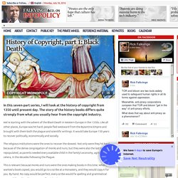 Falckvinge: History of Copyright, part 1: Black Death