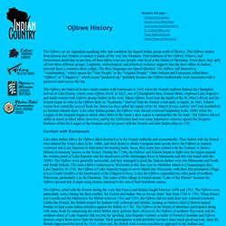 Ojibwe History - Indian Country Wisconsin