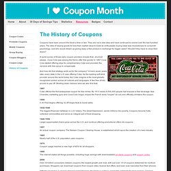 History of Coupons - Coupon Month