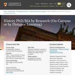 PhD History course - Postgraduate degree study