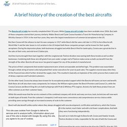 A brief history of the creation of the best aircrafts