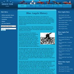 Blue Angels History - US NAVY Flight Demonstration Squadron