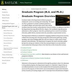 Graduate Program (M.A. and Ph.D.)