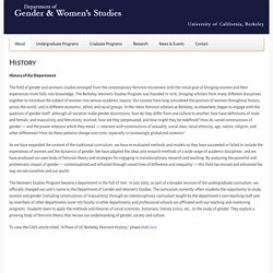 Department of Gender and Women's Studies