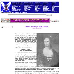 Women in History of Scots Descent - Flora MacDonald