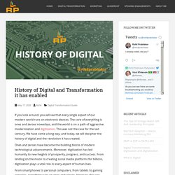History of Digital and Transformation it has enabled – Digital Transformation