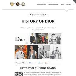 History of Dior