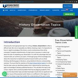 History Dissertation