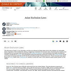 U.S. History - Document - Asian Exclusion Laws