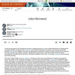 U.S. History - Document - Labor Movement