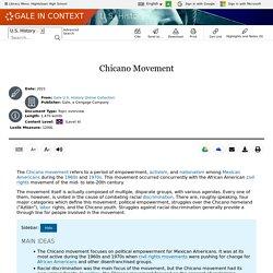 U.S. History - Document - Chicano Movement