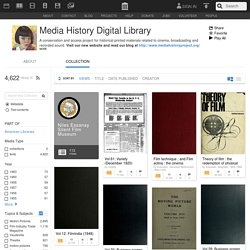 Media History Digital Library : Free Texts : Download & Streaming