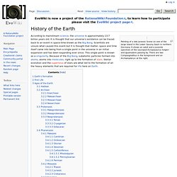 History of the Earth - EvoWiki