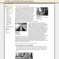 Child Labor in U.S. History - The Child Labor Education Project