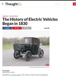 The History of Electric Vehicles Began in 1830