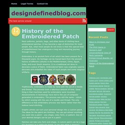 History of the Embroidered Patch