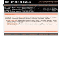 The History of English - Language Issues