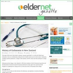 History of Euthanasia in New Zealand – Eldernet Gazette