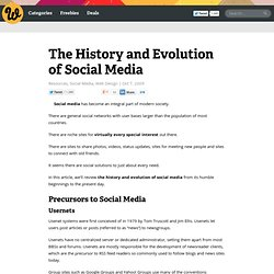 The History and Evolution of Social Media