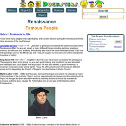 History: Famous Renaissance People for Kids
