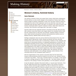 Women's History, Feminist History - Articles - Making History