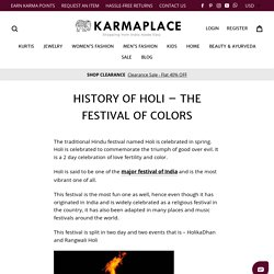 History of Holi – The Festival of colors