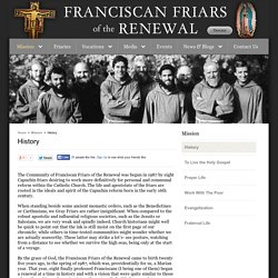 History – Franciscan Friars of the Renewal