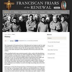 History – Franciscan Friars of the Renewal
