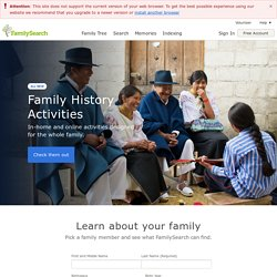 FamilySearch.org — Free Family History and Genealogy Records