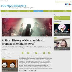 A Short History of German Music: From Bach to Blumentopf