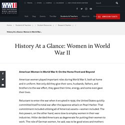 History At a Glance: Women in World War II