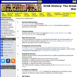 GCSE History: The Great War