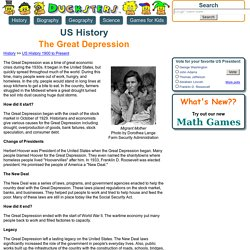US History: The Great Depression for Kids