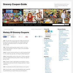 History Of Grocery Coupons - Grocery Coupon Guide