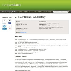 History of J. Crew Group, Inc.