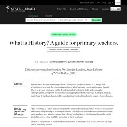 What is History? A guide for primary teachers.