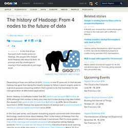 The history of Hadoop: From 4 nodes to the future of data