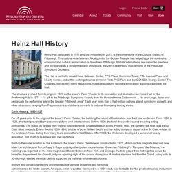 History of Heinz Hall