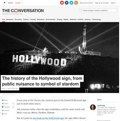 The history of the Hollywood sign